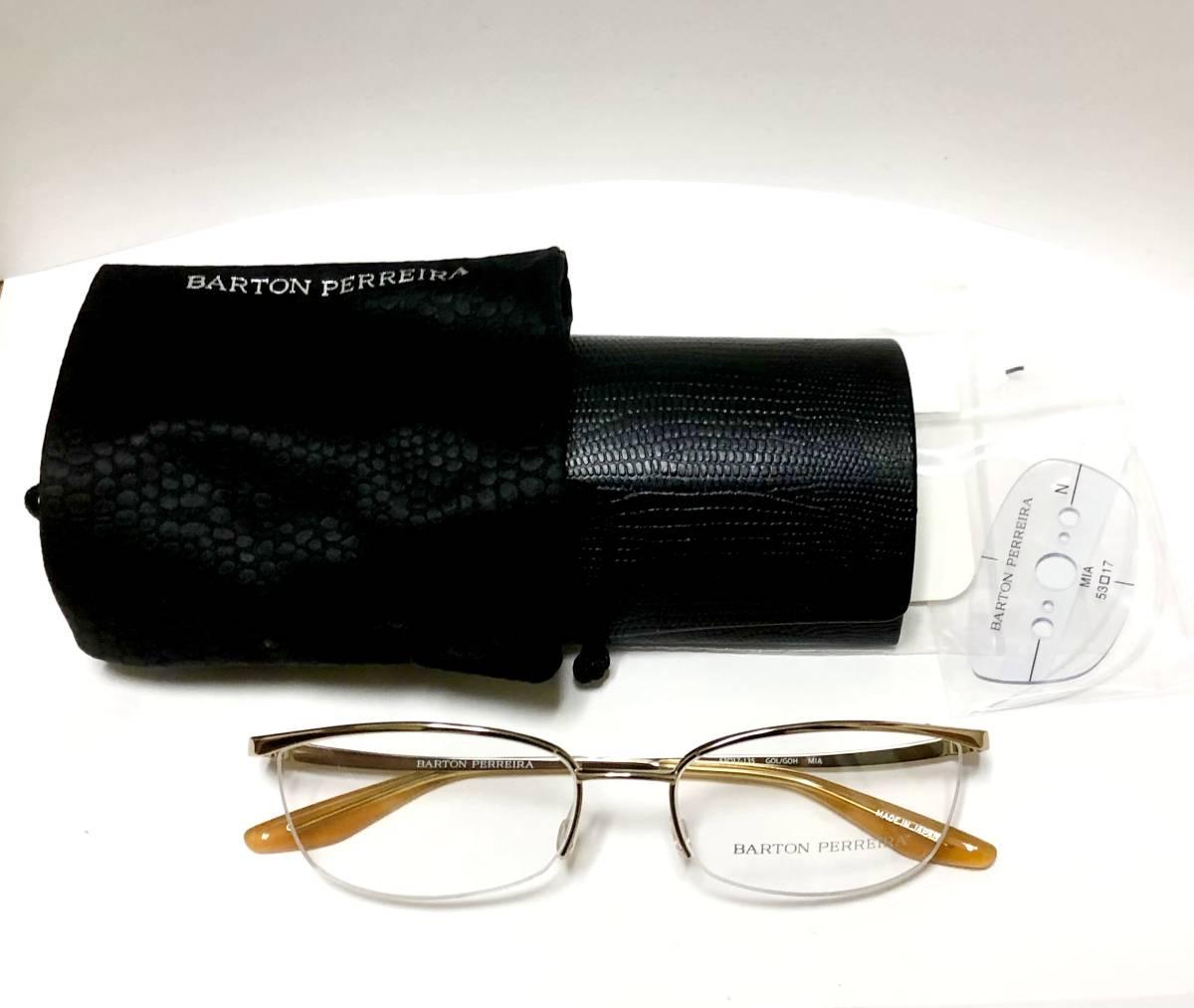 定価85800円 新品) 上流階級 バートンペレイラ ミア Barton Perreira 極上品 純正メガネ 付属品付き 金色 日本製 米国ブランド_画像9