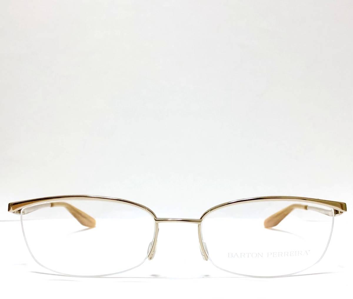 定価85800円 新品) 上流階級 バートンペレイラ ミア Barton Perreira 極上品 純正メガネ 付属品付き 金色 日本製 米国ブランド_画像1