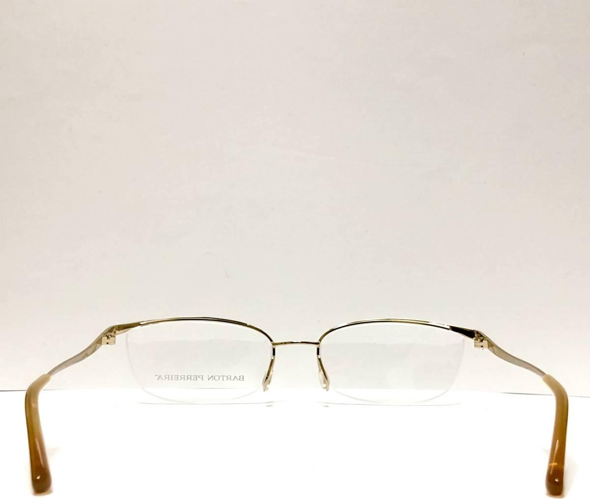 定価85800円 新品) 上流階級 バートンペレイラ ミア Barton Perreira 極上品 純正メガネ 付属品付き 金色 日本製 米国ブランド_画像7