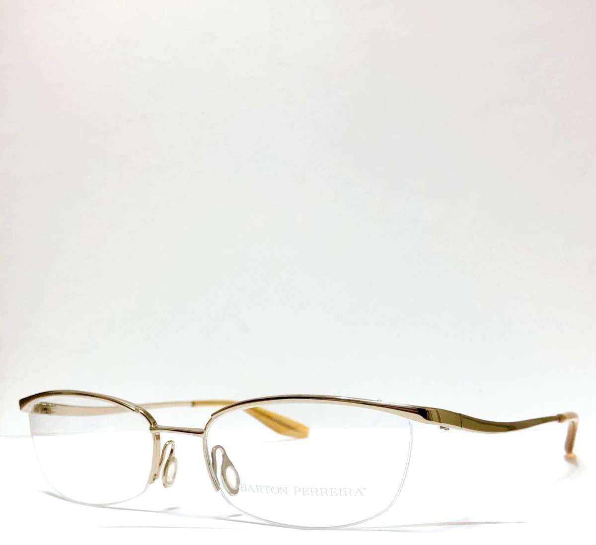 定価85800円 新品) 上流階級 バートンペレイラ ミア Barton Perreira 極上品 純正メガネ 付属品付き 金色 日本製 米国ブランド_画像3
