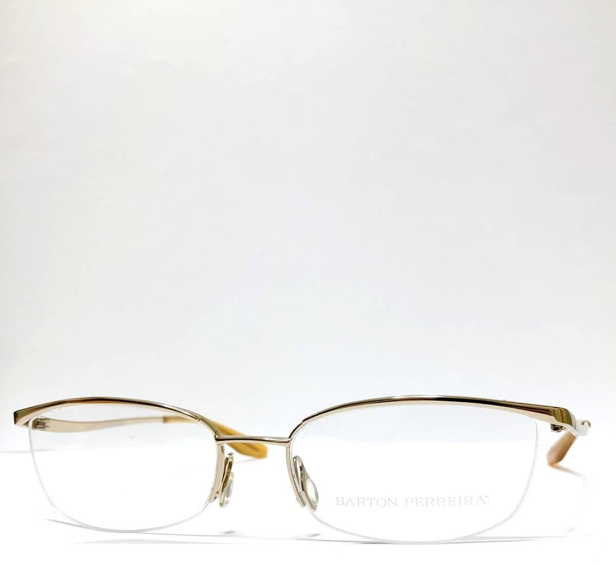 定価85800円 新品) 上流階級 バートンペレイラ ミア Barton Perreira 極上品 純正メガネ 付属品付き 金色 日本製 米国ブランド_画像2