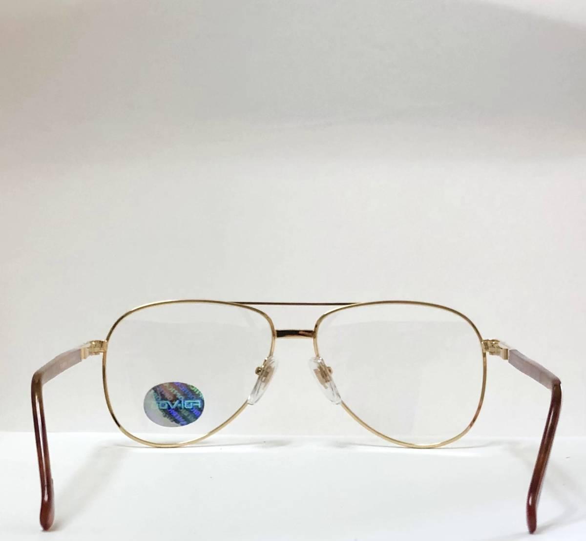 新品箱付】20K金 アメリカンオプティカル 80年代 琥珀色 べっ甲柄 AO American Optical メガネ 米国ブランド_画像7