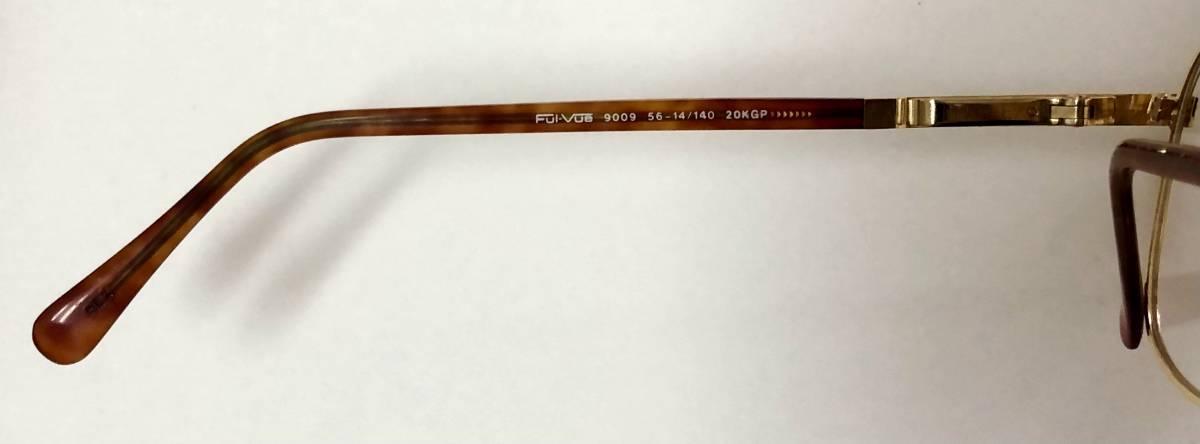 新品箱付】20K金 アメリカンオプティカル 80年代 琥珀色 べっ甲柄 AO American Optical メガネ 米国ブランド_画像6