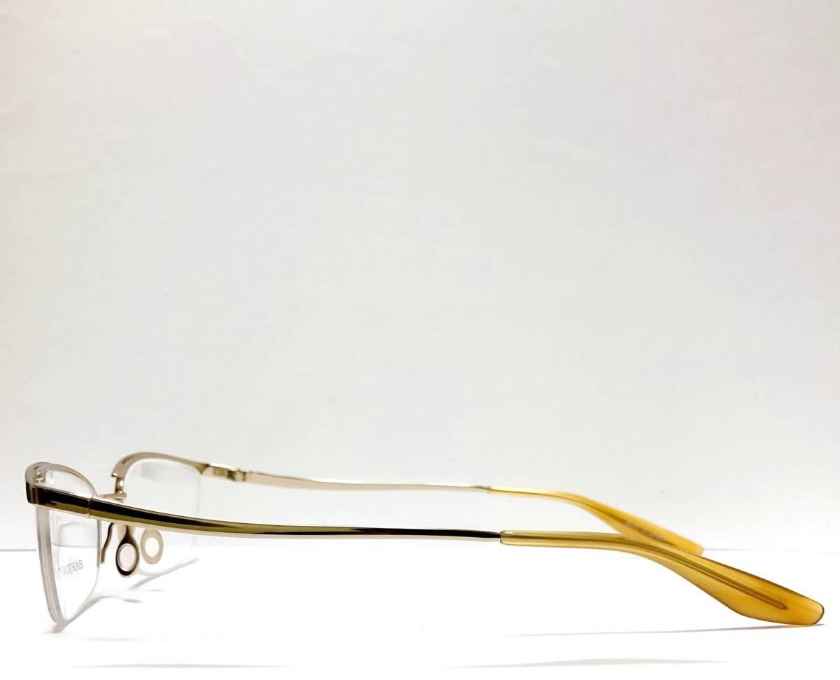定価85800円 新品) 上流階級 バートンペレイラ ミア Barton Perreira 極上品 純正メガネ 付属品付き 金色 日本製 米国ブランド_画像4