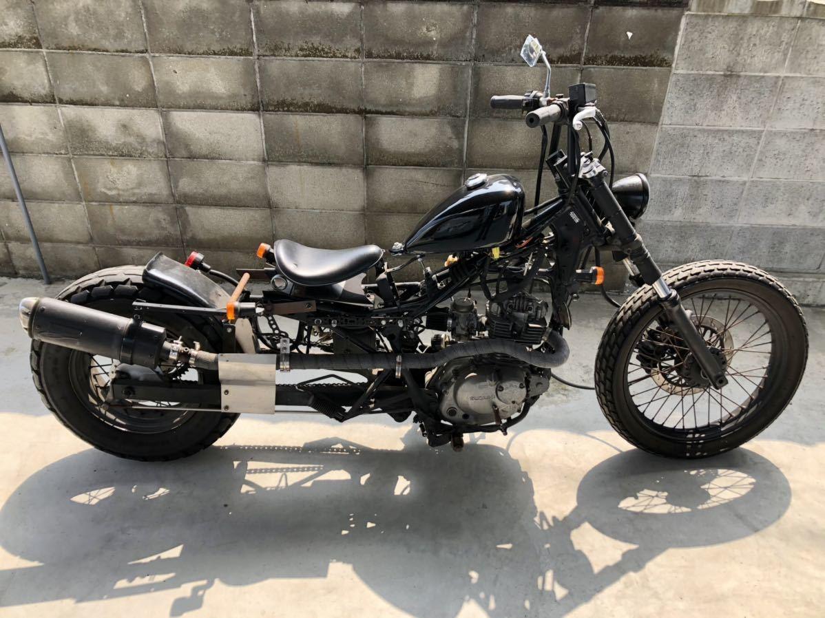 「ジャンク 愛媛 ■ SUZUKI ■ 125cc カスタム バイク ジェベル アメリカン チョッパー スズキ」の画像1