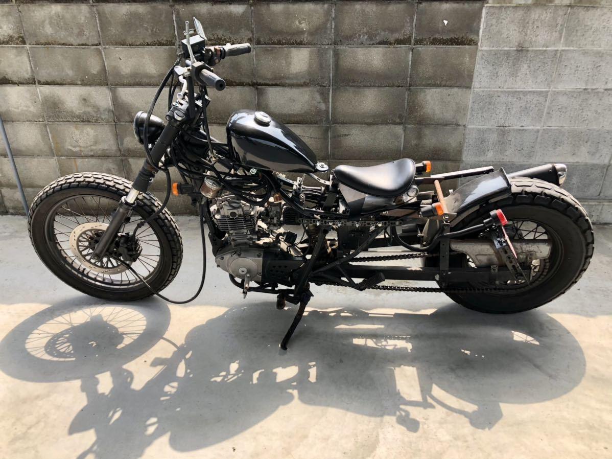 「ジャンク 愛媛 ■ SUZUKI ■ 125cc カスタム バイク ジェベル アメリカン チョッパー スズキ」の画像2