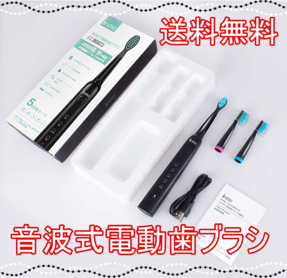 【送料無料】 電動 音波 歯ブラシ 歯ブラシ ハブラシ USB充電式 タイマー