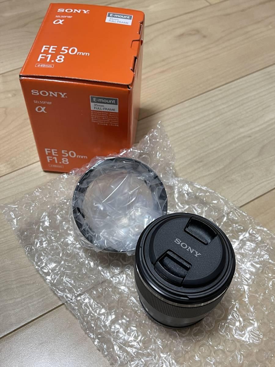 2021年1月購入★新品同様★ ソニー Eマウント用レンズ SEL50F18F (FE 50mm F1.8) フルサイズ対応 試写2回のみ 購入時の物全て有り