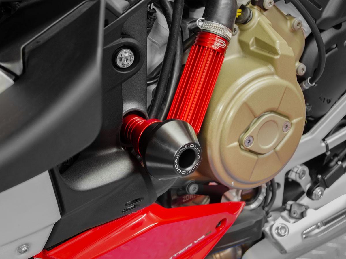 【国内在庫】DUCABIKE ドゥカバイク フレームプロテクター 赤 レッド STREETFIGHTER V4 / S ドゥカティ ストリートファイター スライダー_画像3