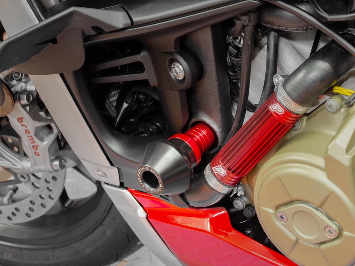 【国内在庫】DUCABIKE ドゥカバイク フレームプロテクター 赤 レッド STREETFIGHTER V4 / S ドゥカティ ストリートファイター スライダー_画像4