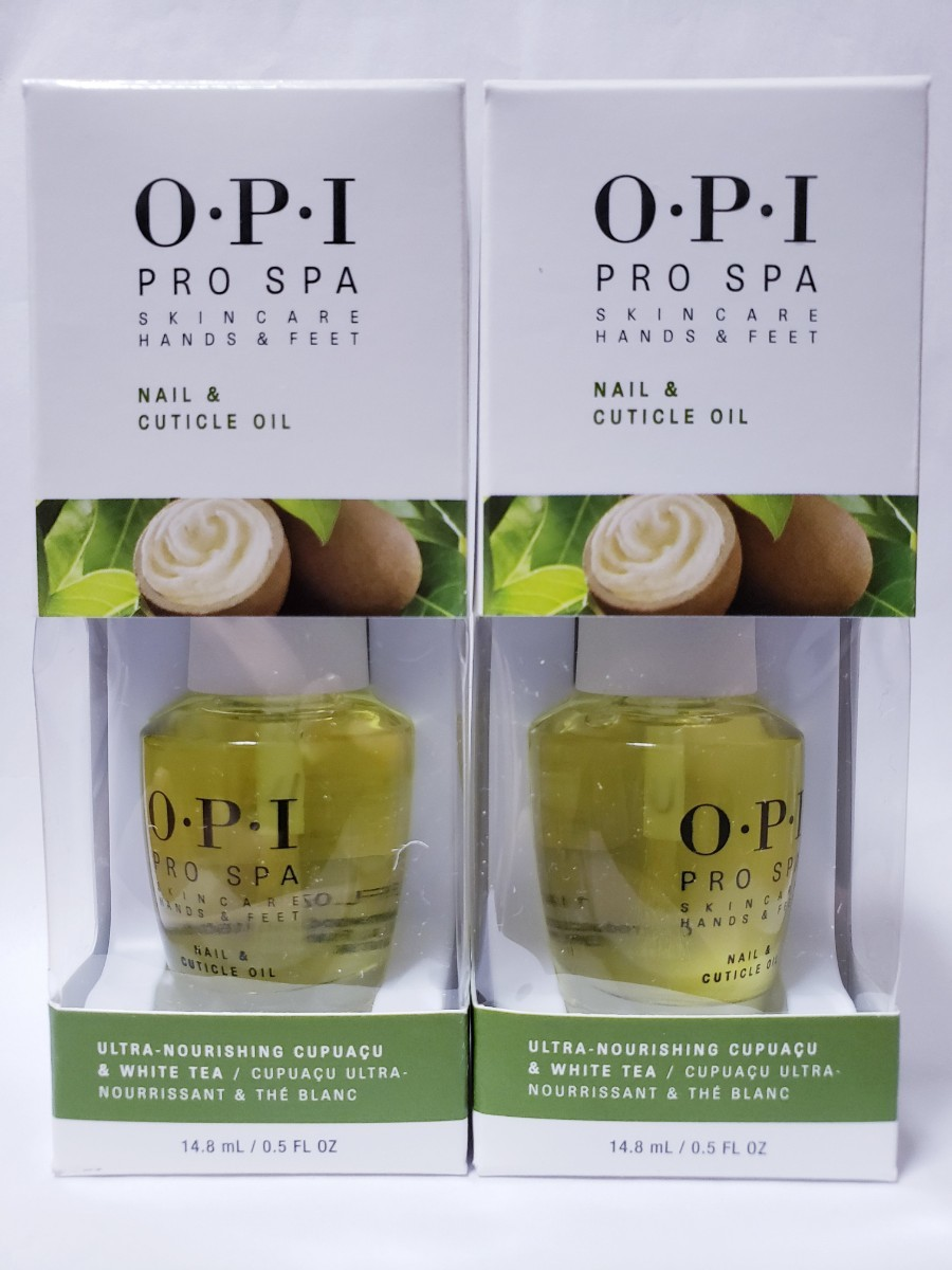 2 x OPI プロスパキューティクルオイル 15 ml Pro Spa Nail & Cuticle Oil .5 oz