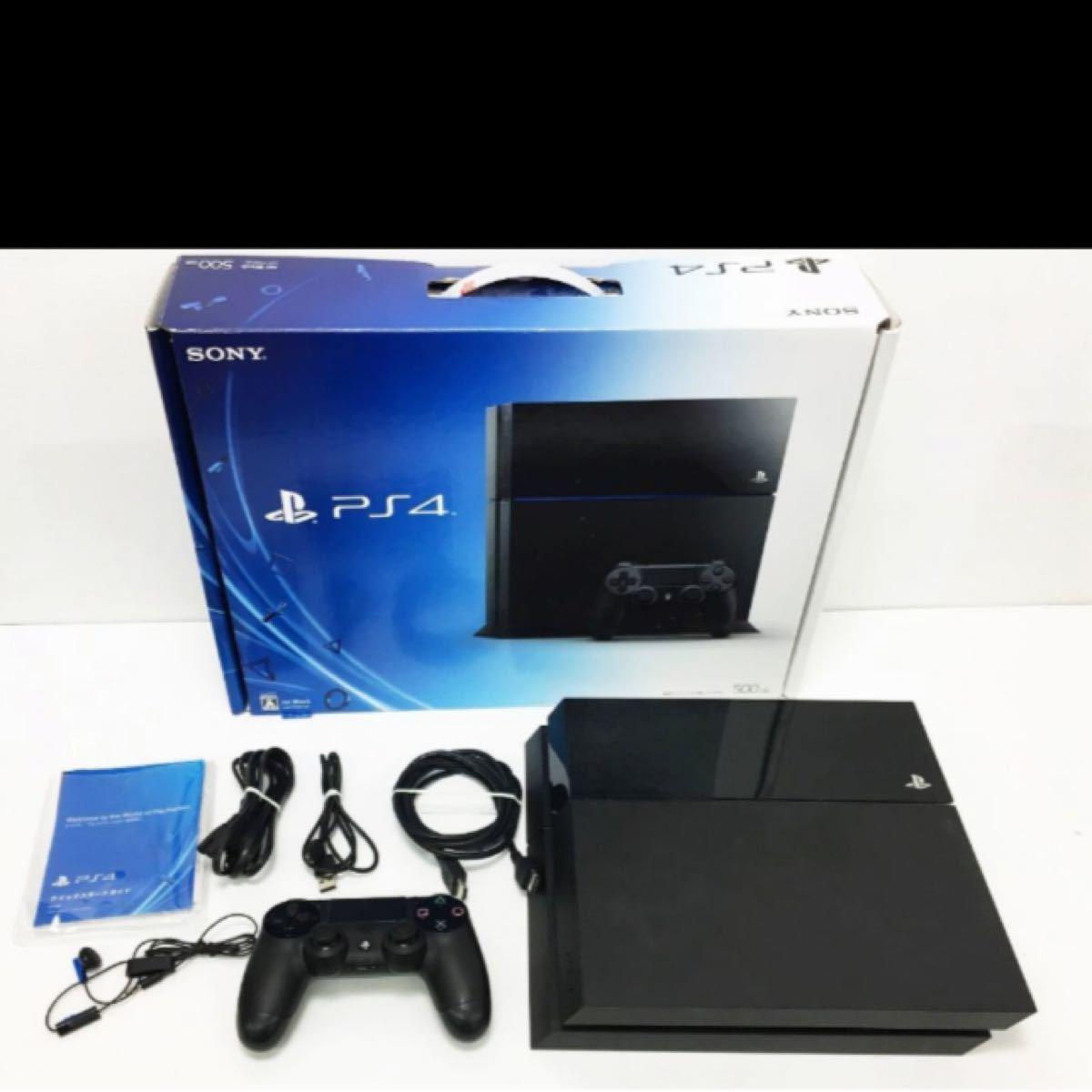 PS4 ジェット・ブラック 500GB ゲーム機本体 初期化動作確認済み
