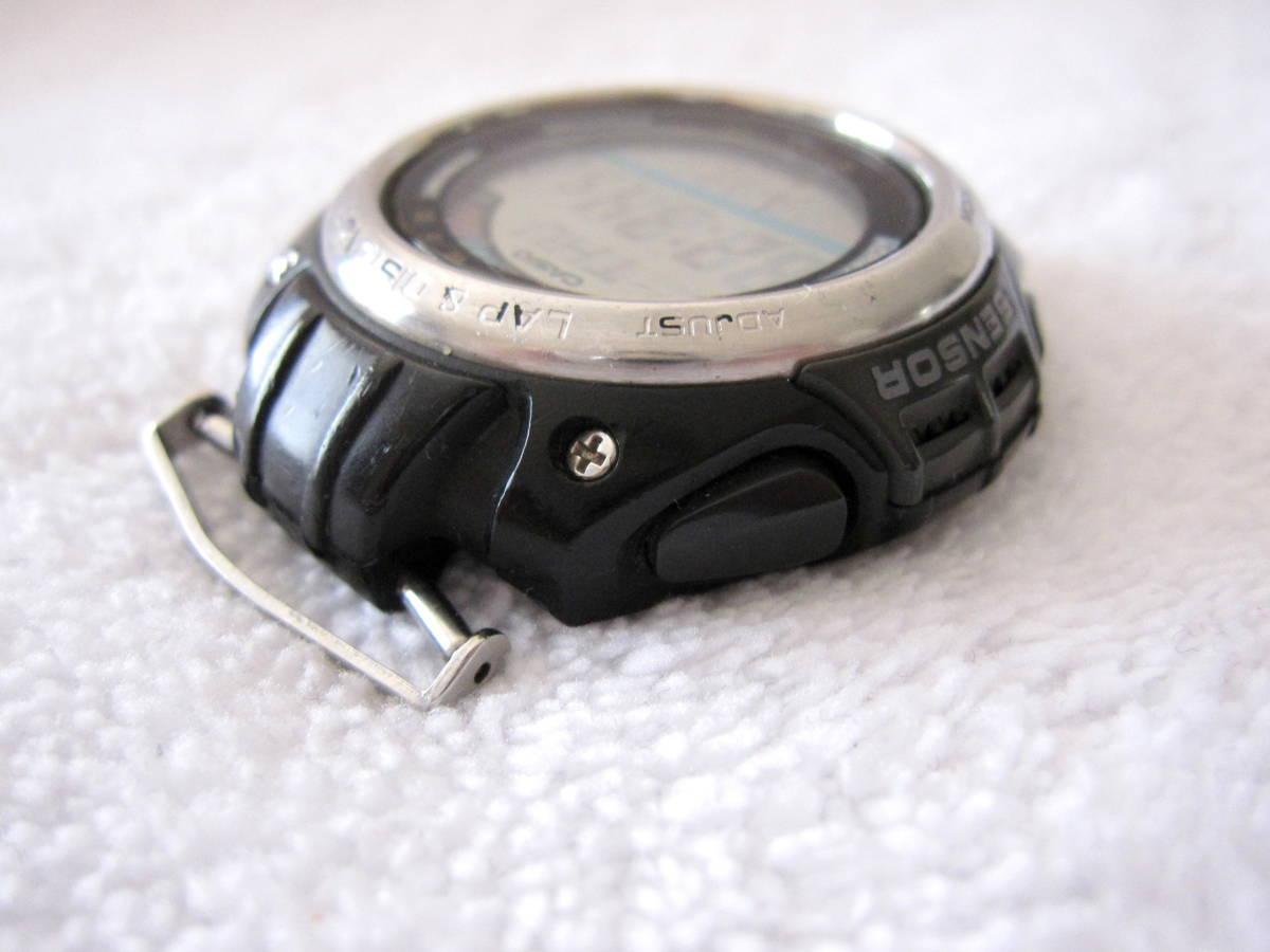 CASIO デジタル LAP & DISTANCE SGW-200 B 150LAP ベルト無し ELバックライト 稼動 中古 送140 チープカシオ チプカシ メンズ 腕時計_画像3