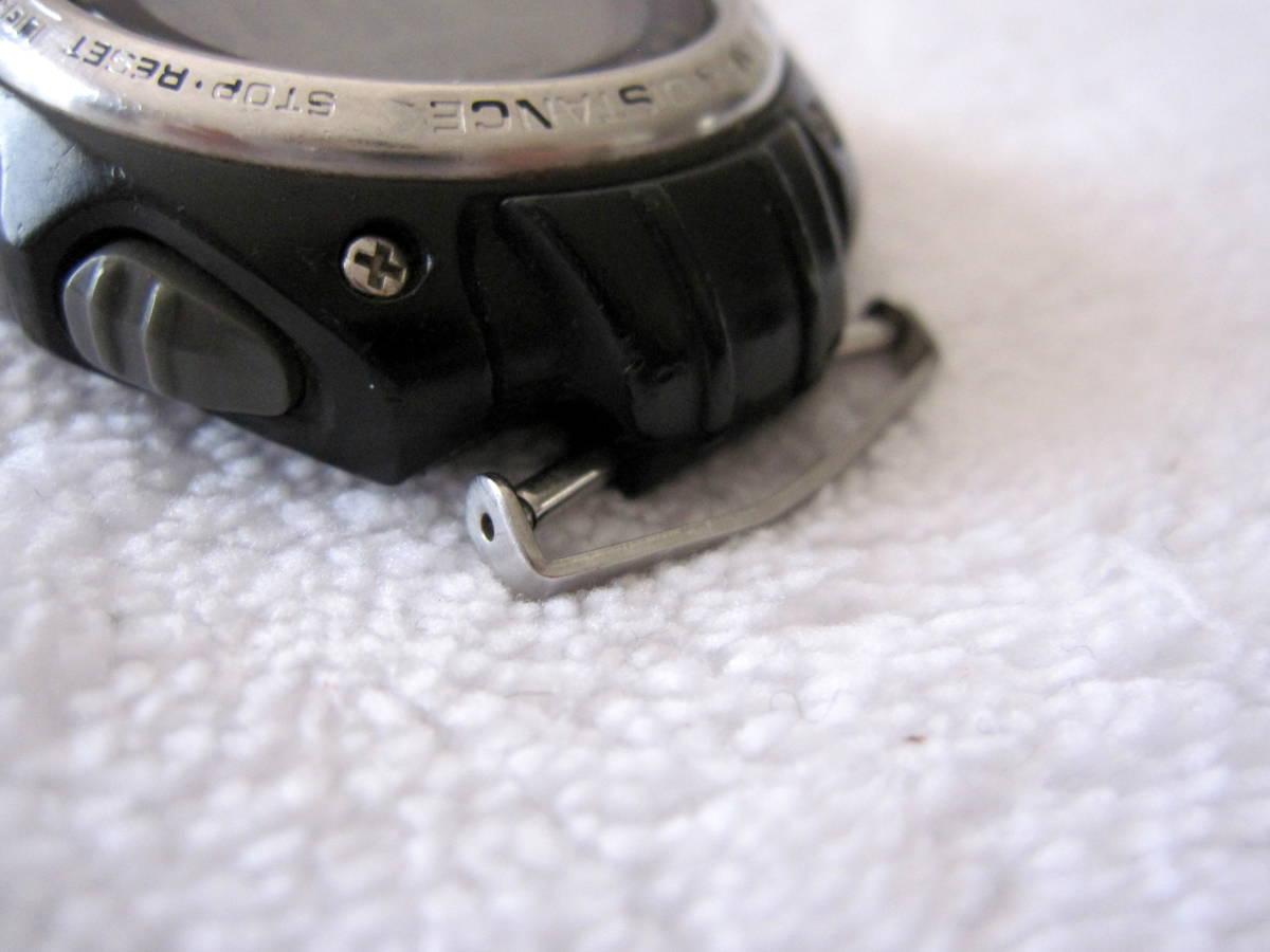 CASIO デジタル LAP & DISTANCE SGW-200 B 150LAP ベルト無し ELバックライト 稼動 中古 送140 チープカシオ チプカシ メンズ 腕時計_画像6