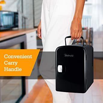 03ブラック AstroAI 冷蔵庫 小型 ミニ冷蔵庫 小型冷蔵庫 冷温庫 保温 冷温庫 4L 小型でポータブル 化粧品 家庭 _画像5