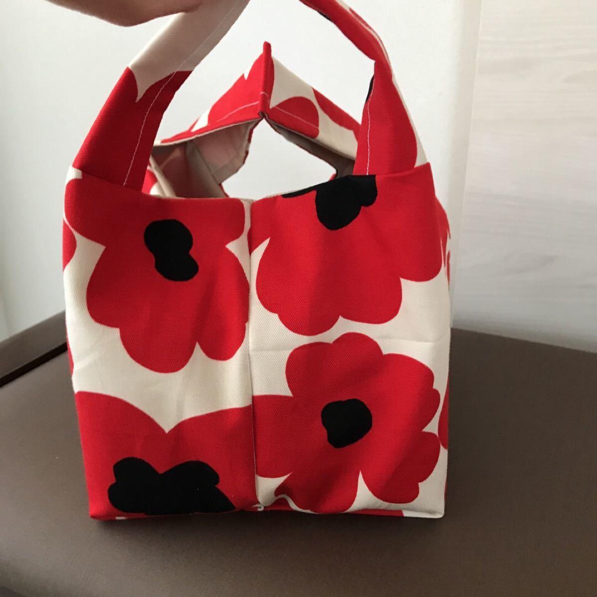 エコバッグ マイバッグ コンビニサイズ 折りたたみ 北欧 花柄 ハンドメイド