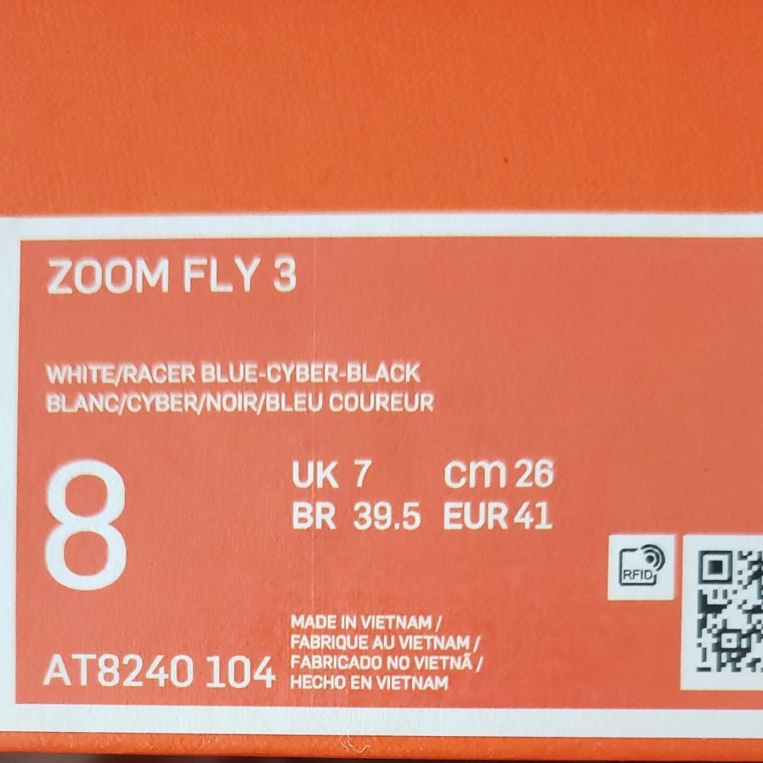 新品ナイキ ズーム フライ 3  NIKE ZOOM FLY 3 AT8240 104 メンズ 陸上 厚底 ランニングシューズ