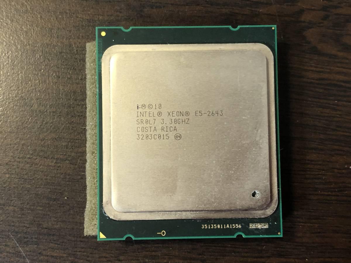 ◆Intel Xeon E5-2643 3.50GHz/10M 4コア8スレッド_画像1