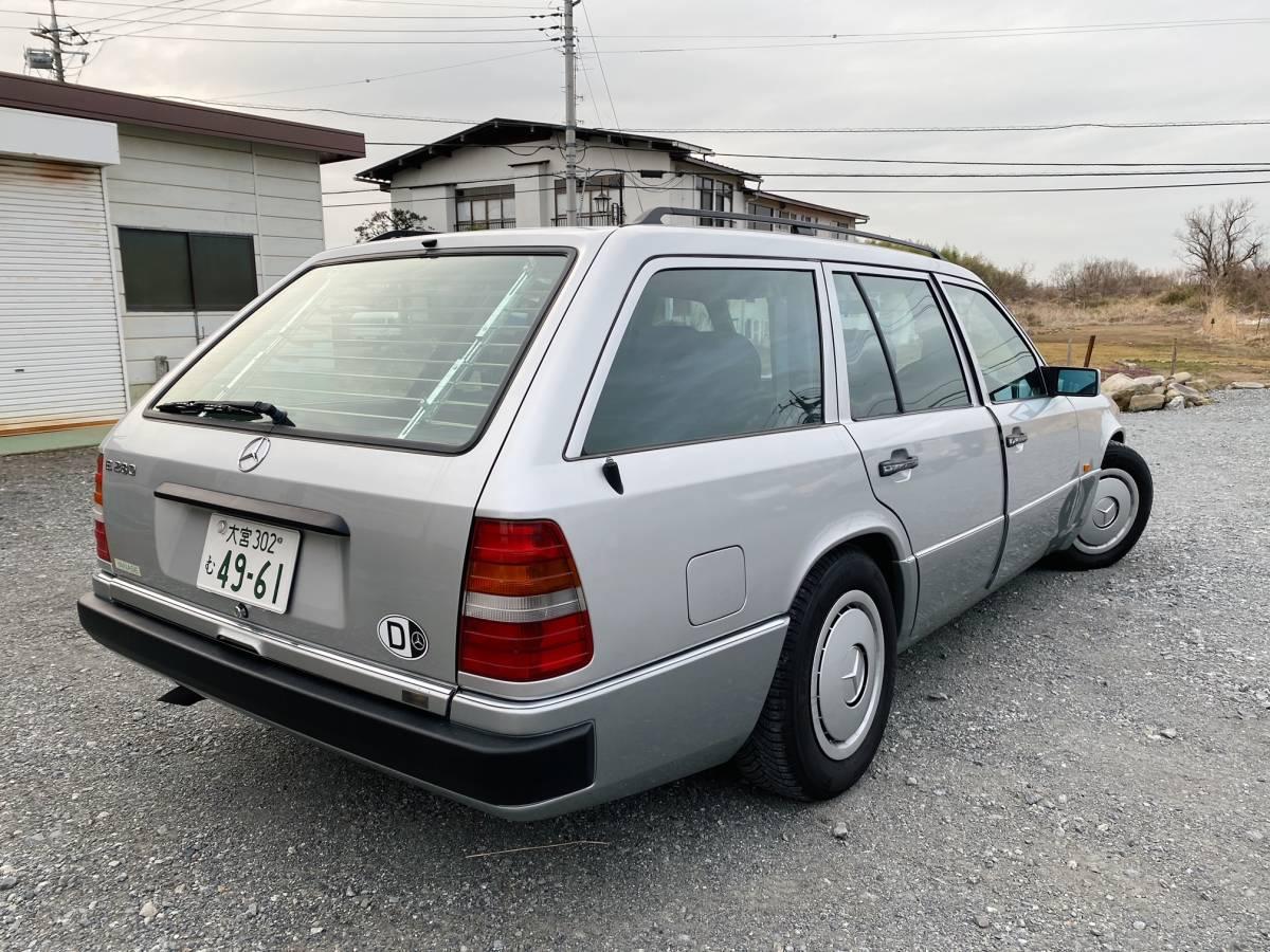 「最終【名車W124ワゴン】95y E280T ステーションワゴン 後期型/シルバー&サッコプレート/メンテ済み機関系好調」の画像3