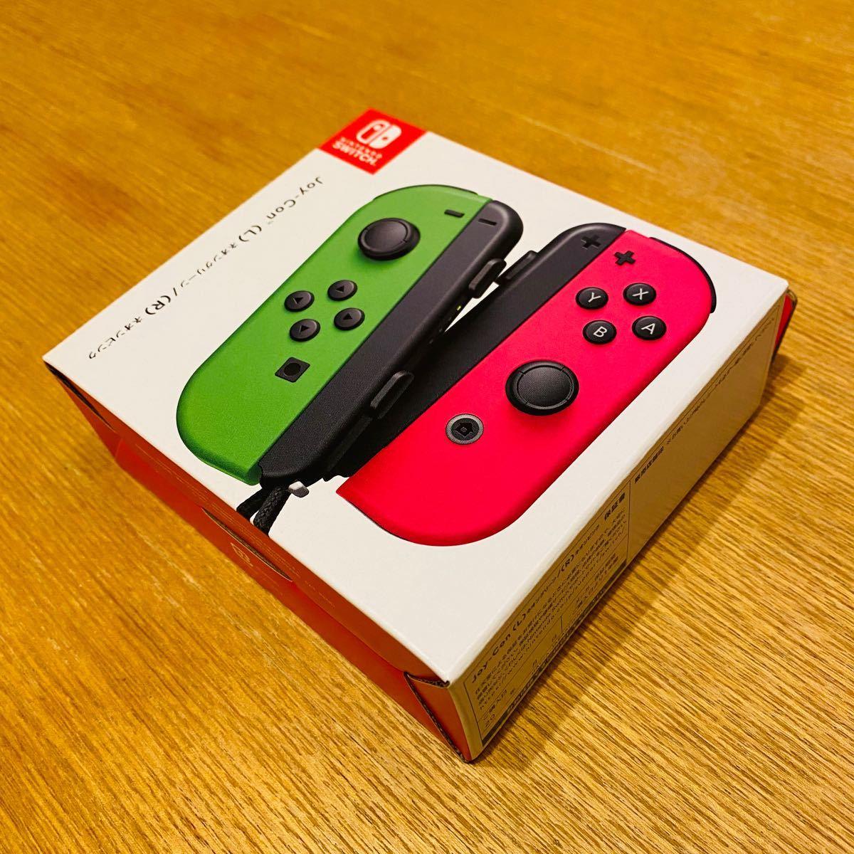 新品 未開封 Nintendo Switch Joy-Con ネオングリーン/ネオンピンク 国内正規品