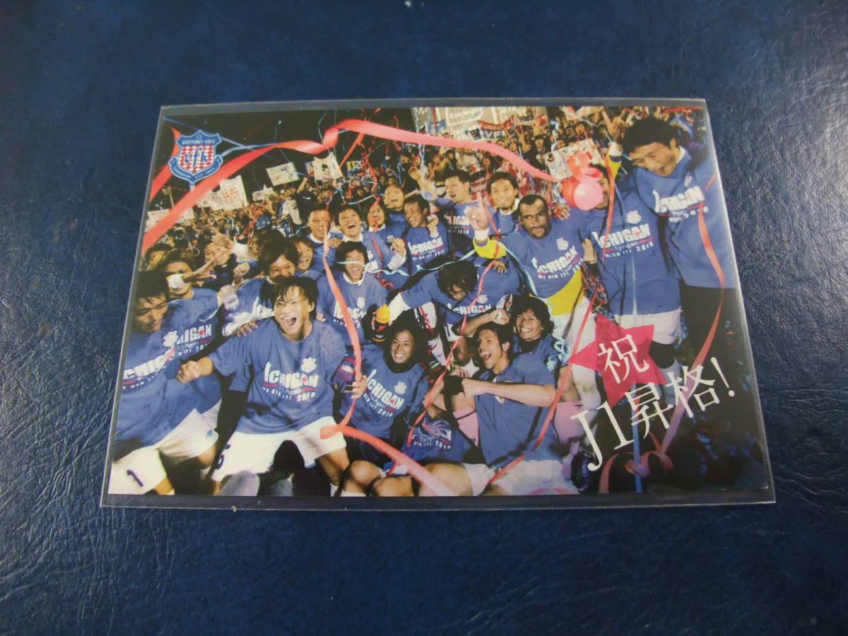 2010 ヴァンフォーレ甲府 祝 J1昇格 祝杯 選手カード スタジアム限定配布 サッカー Jリーグ_画像1
