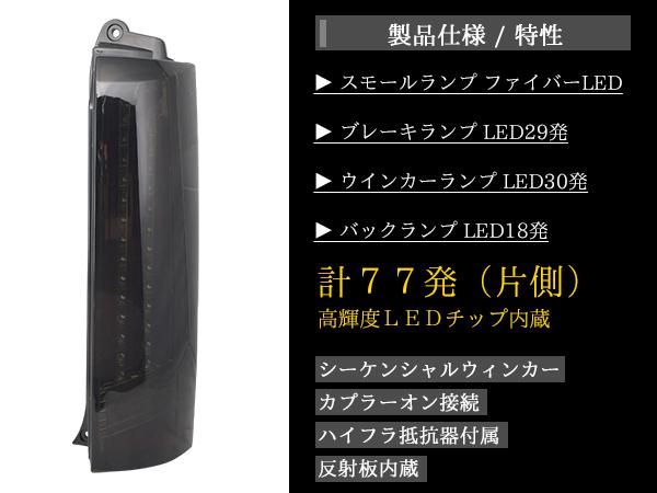【TRISTAR'S】エブリイワゴン DA64W シーケンシャルウインカー ファイバーLEDテールランプ インナーメッキスモークレンズ 流れるウインカー_画像5