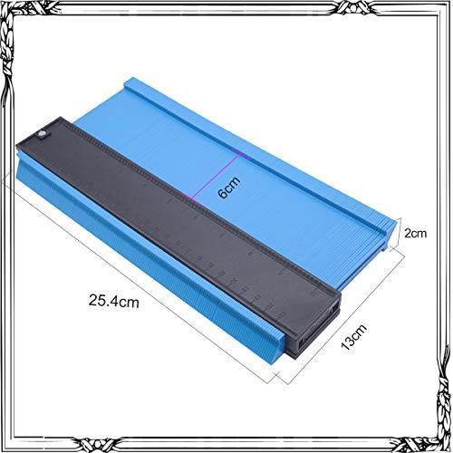 コンターゲージ 型取りゲージ 257mm 測定工具 高精度 曲線定規 Lefon 目盛付き 不規則 測定ゲージ _画像5