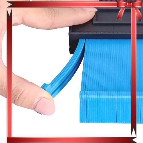 コンターゲージ 型取りゲージ 257mm 測定工具 高精度 曲線定規 Lefon 目盛付き 不規則 測定ゲージ _画像6