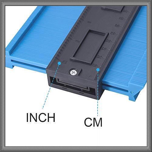 コンターゲージ 型取りゲージ 257mm 測定工具 高精度 曲線定規 Lefon 目盛付き 不規則 測定ゲージ _画像7