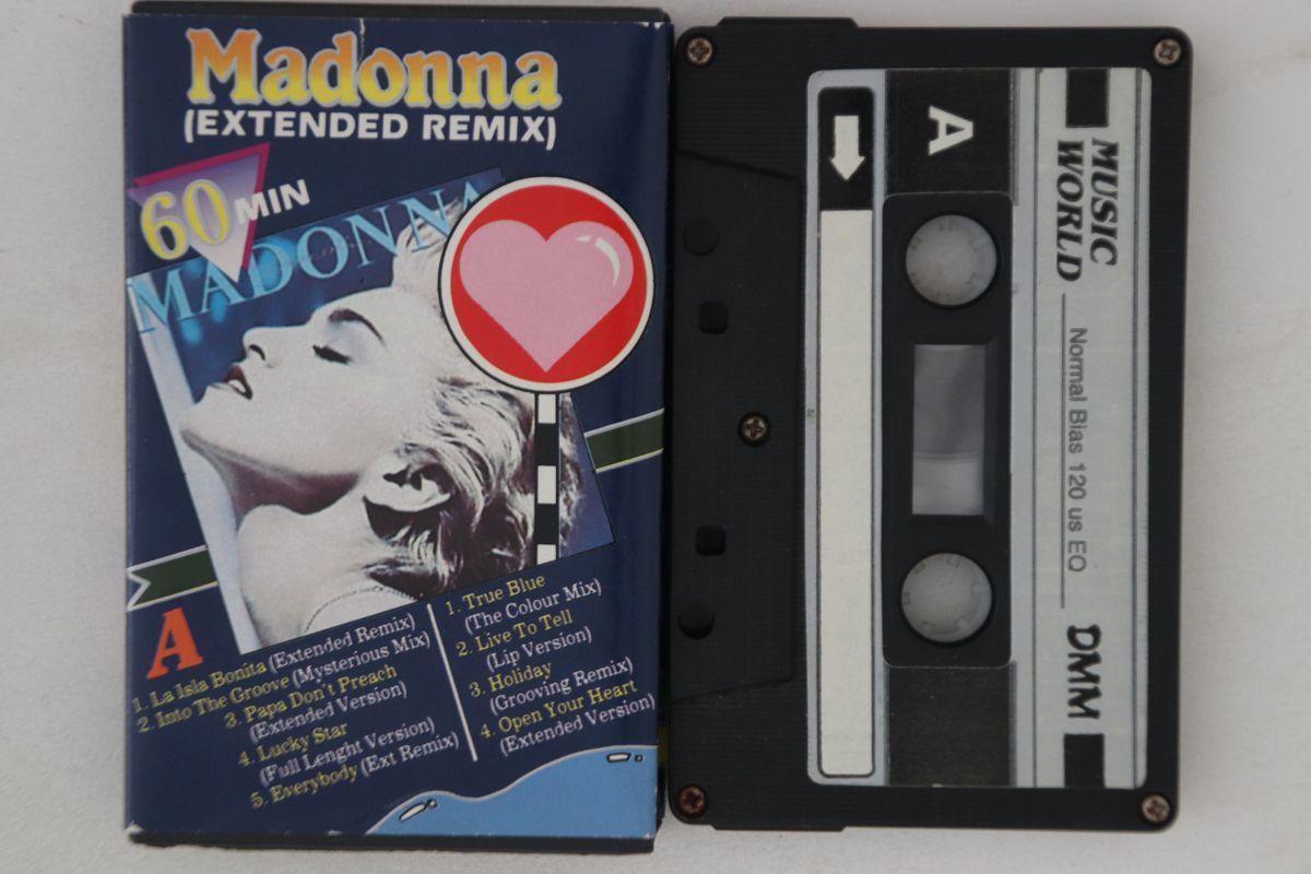 国不明Cassette Madonna Extended Remix C6MW356 MUSIC WORLD /00110_画像1