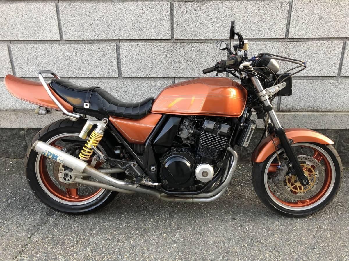 「H11年 ZRX400 カスタム RPM菅マフラー」の画像2