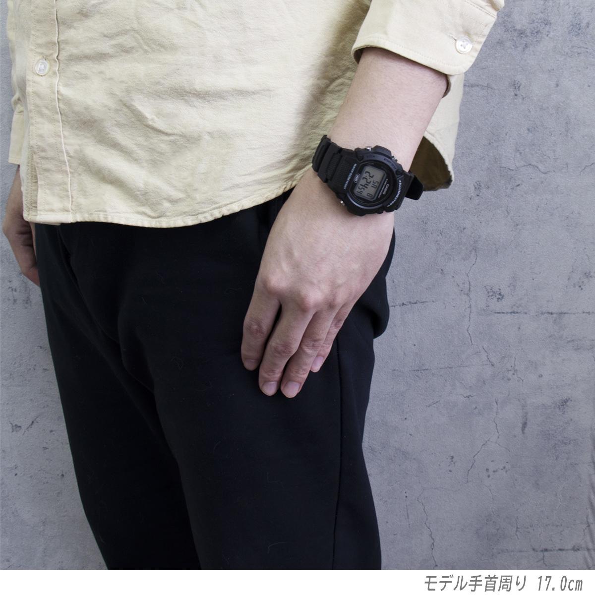 CASIO カシオ 防水 ユニセックス デジタル W219-1A ブラック シンプル メンズ レディース キッズ チープカシオ 男性 女性 子供 腕時計_画像3