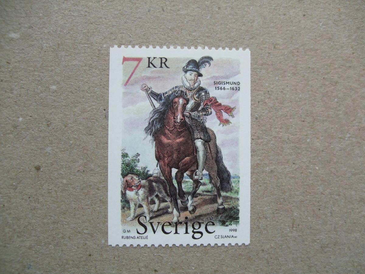 スウェーデン 1998年 シギスムンド 1種完 未使用美品_画像1