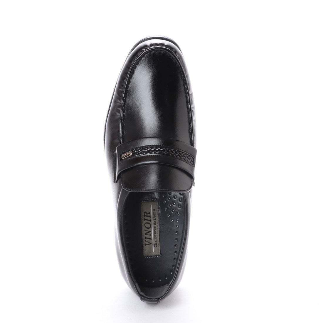 【安い】 超軽量 紳士靴 メンズ ビジネスシューズ スリッポン モカシン ウォーキングシューズ 幅広 4E 抗菌 防臭 1011 ブラック 黒 25.0cm