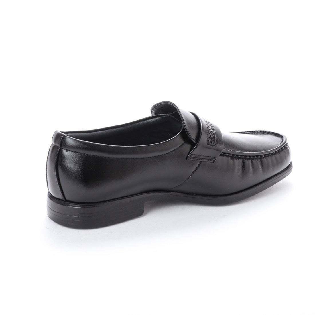 【安い】 超軽量 紳士靴 メンズ ビジネスシューズ スリッポン モカシン ウォーキングシューズ 幅広 4E 抗菌 防臭 1011 ブラック 黒 26.0cm