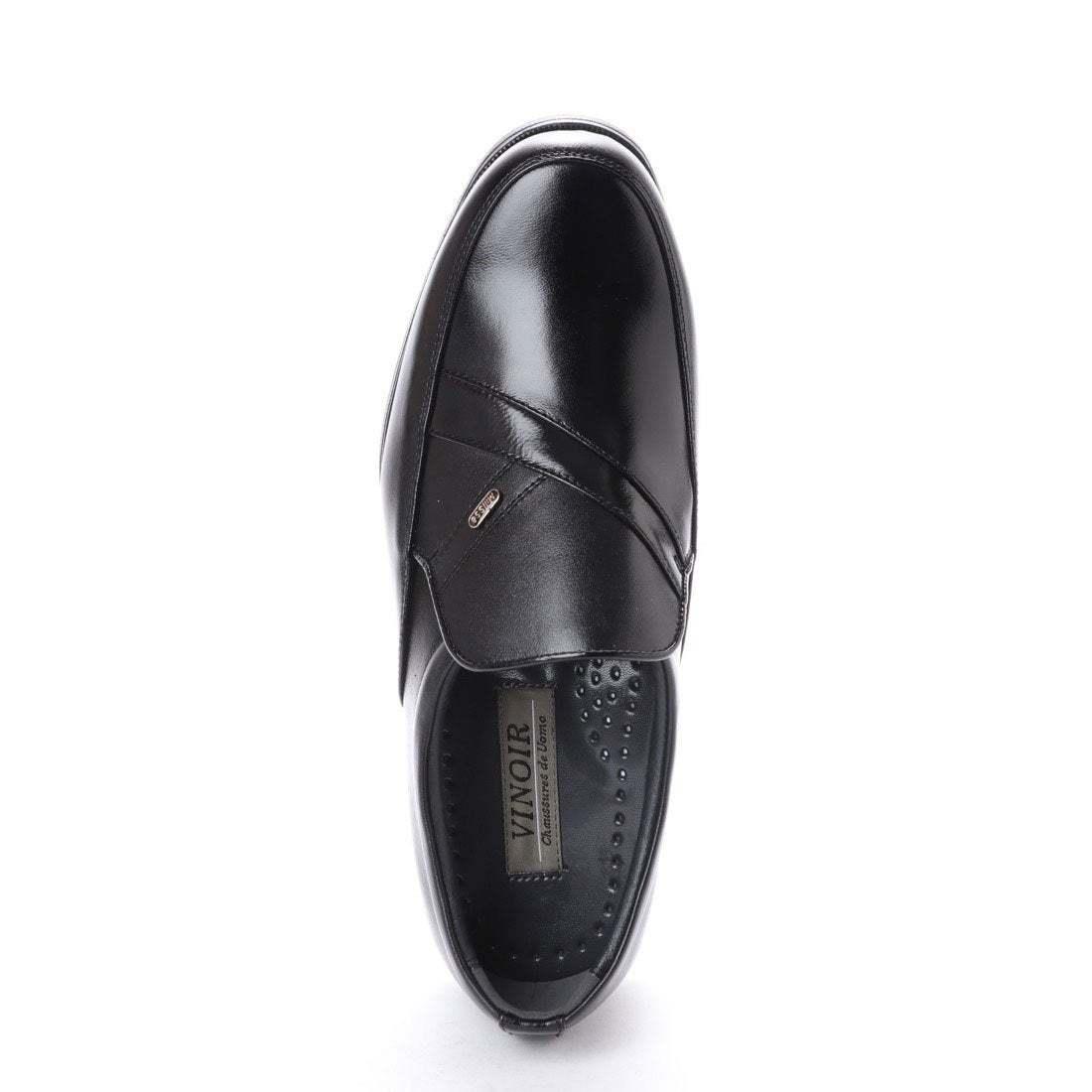 【安い】 超軽量 紳士靴 メンズ ビジネスシューズ スリッポン ウォーキングシューズ 幅広 4E 抗菌 防臭 1012 ブラック 黒 27.0cm