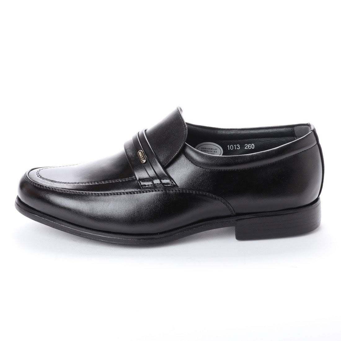 【安い】 超軽量 紳士靴 メンズ ビジネスシューズ スリッポン ウォーキングシューズ 幅広 4E 抗菌 防臭 1013 ブラック 黒 24.5cm