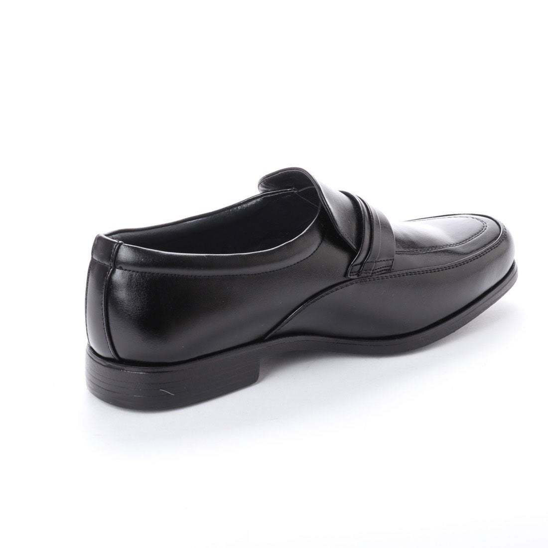 【安い】 超軽量 紳士靴 メンズ ビジネスシューズ スリッポン ウォーキングシューズ 幅広 4E 抗菌 防臭 1013 ブラック 黒 25.5cm