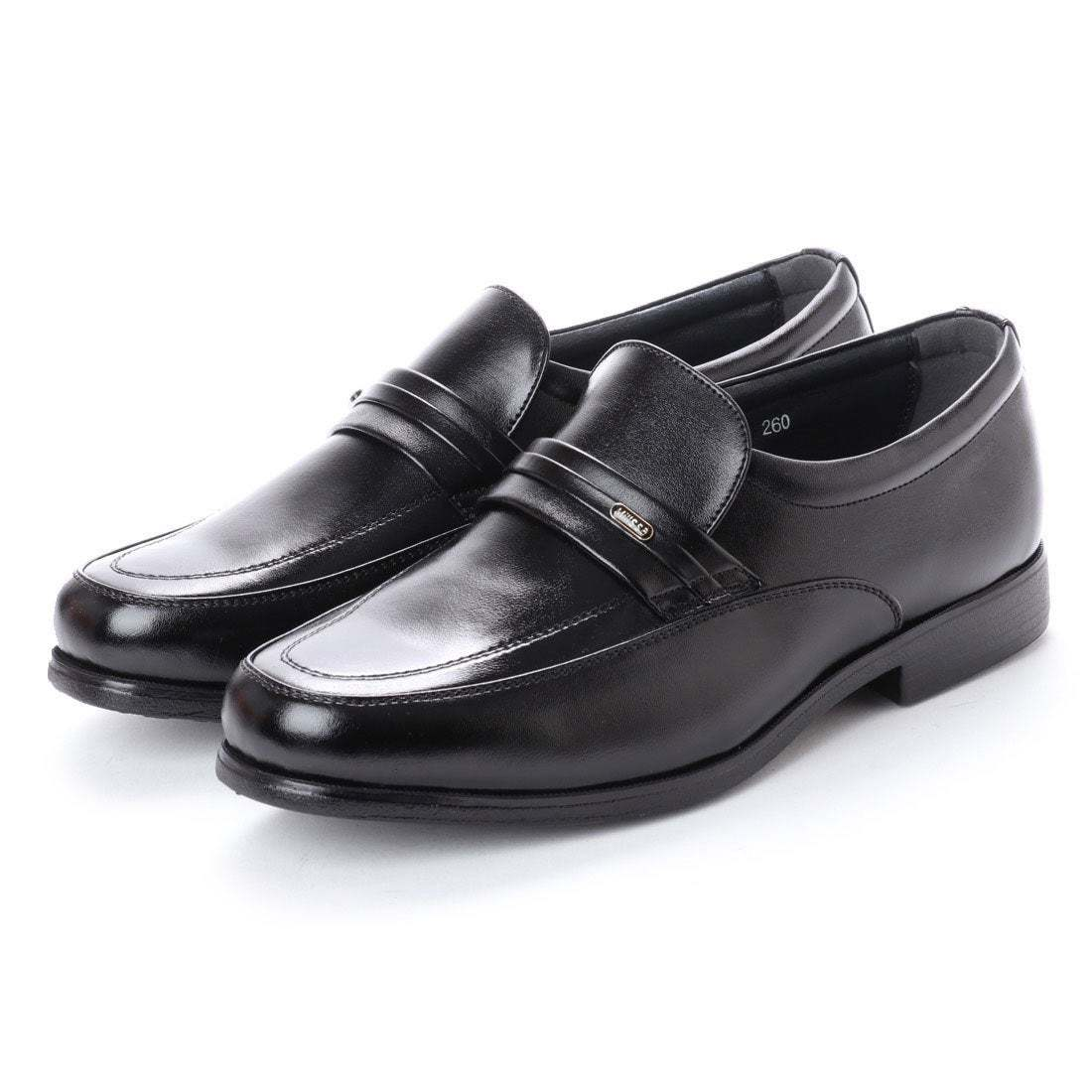 【安い】 超軽量 紳士靴 メンズ ビジネスシューズ スリッポン ウォーキングシューズ 幅広 4E 抗菌 防臭 1013 ブラック 黒 26.0cm
