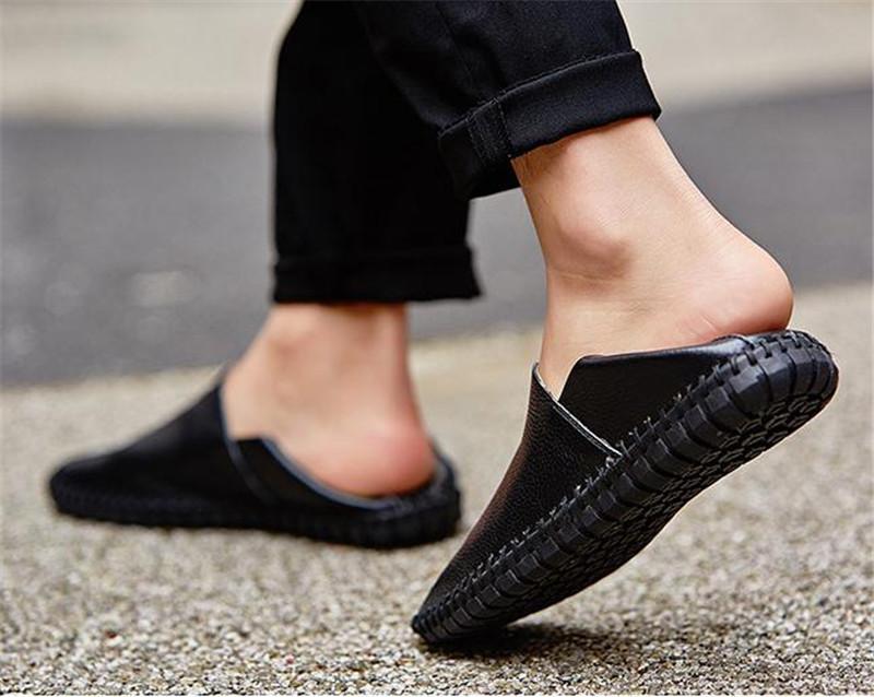 カジュアルシューズ 新品 スリッポン メンズ ローファー ドライビング 紳士靴 滑り止め 柔らかい スリッパ 黒 25.0cm_画像3