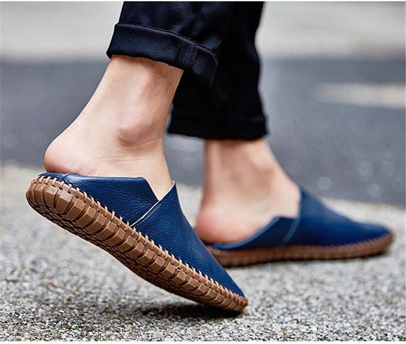 カジュアルシューズ 新品 スリッポン メンズ ローファー ドライビング 紳士靴 滑り止め 柔らかい スリッパ ブルー 27.0cm_画像3
