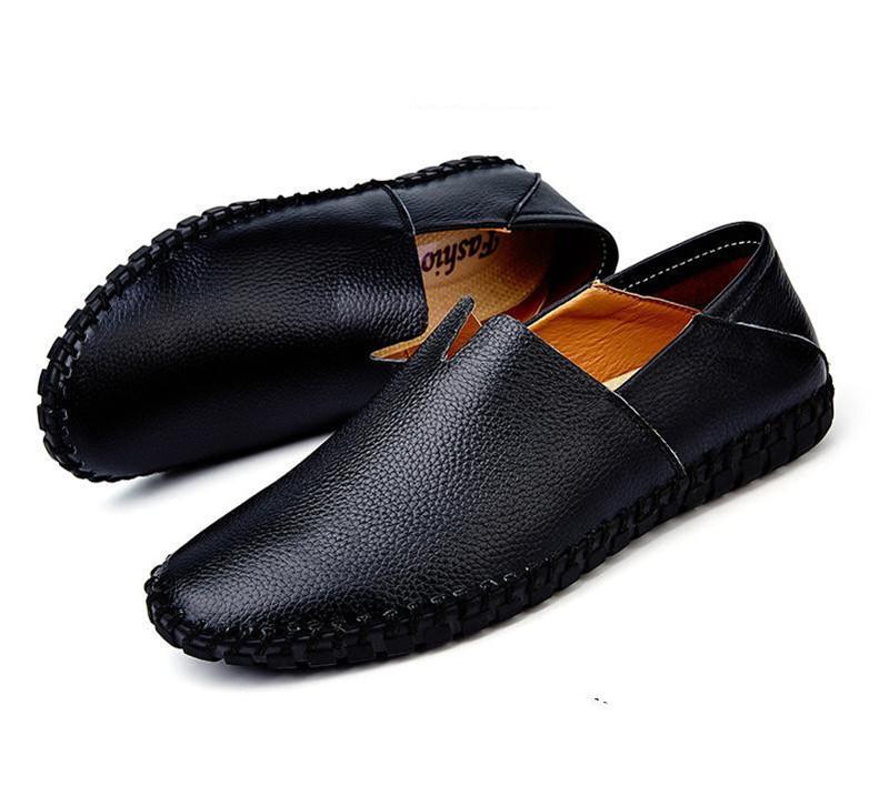 カジュアルシューズ 新品 スリッポン メンズ ローファー ドライビング 紳士靴 滑り止め 柔らかい スリッパ 黒 25.0cm_画像2