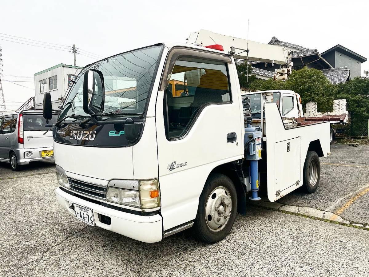 「最終 値下げ 大阪より 走行10万km いすゞ エルフ レッカー車 レッカー トーイングに」の画像1