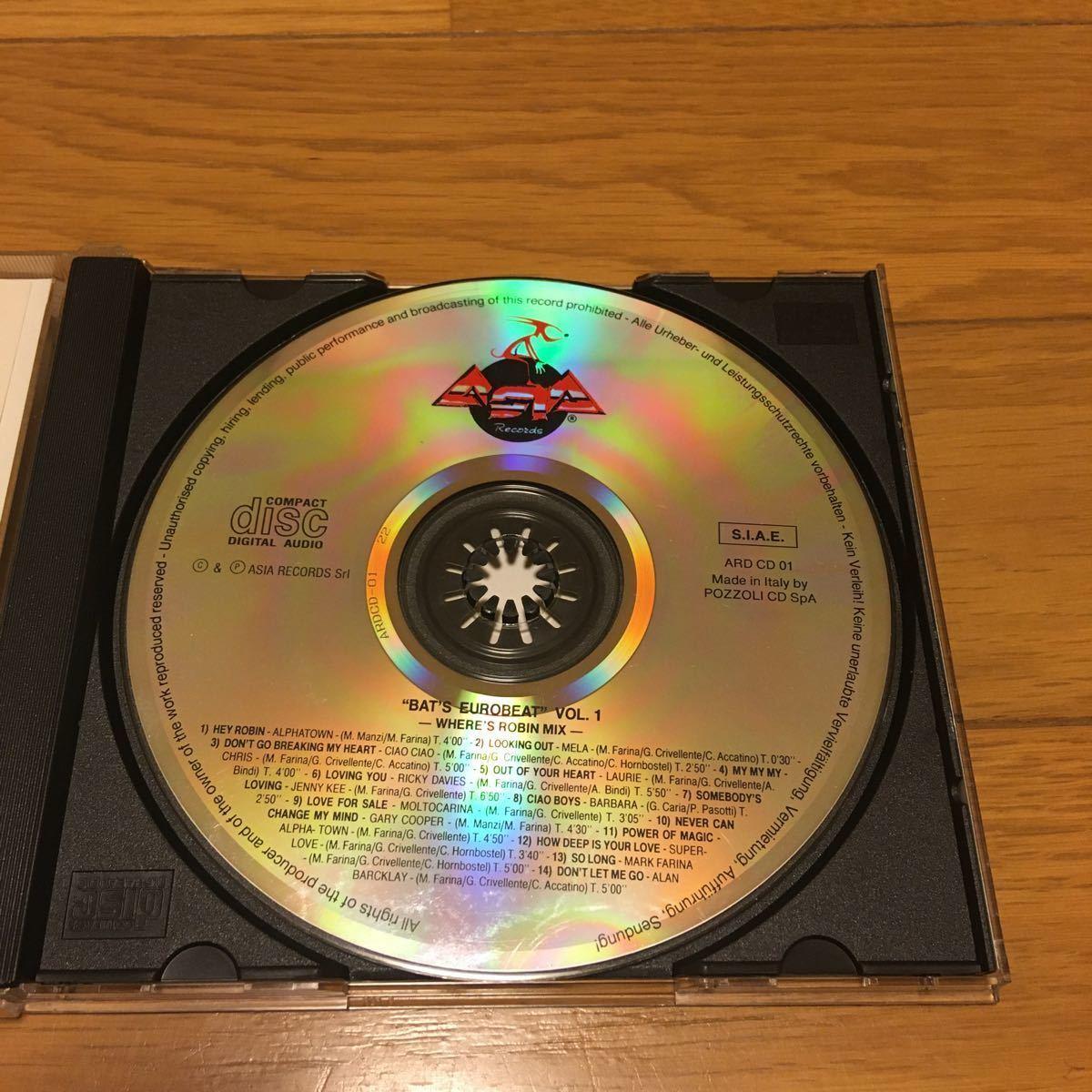 ネコポス送料無料☆BAT'S Eurobeat vol.1 WHERES・ROBIN・MIX☆バッツ ユーロビート vol.1☆イタリアASIAレーベル☆希少盤_画像4