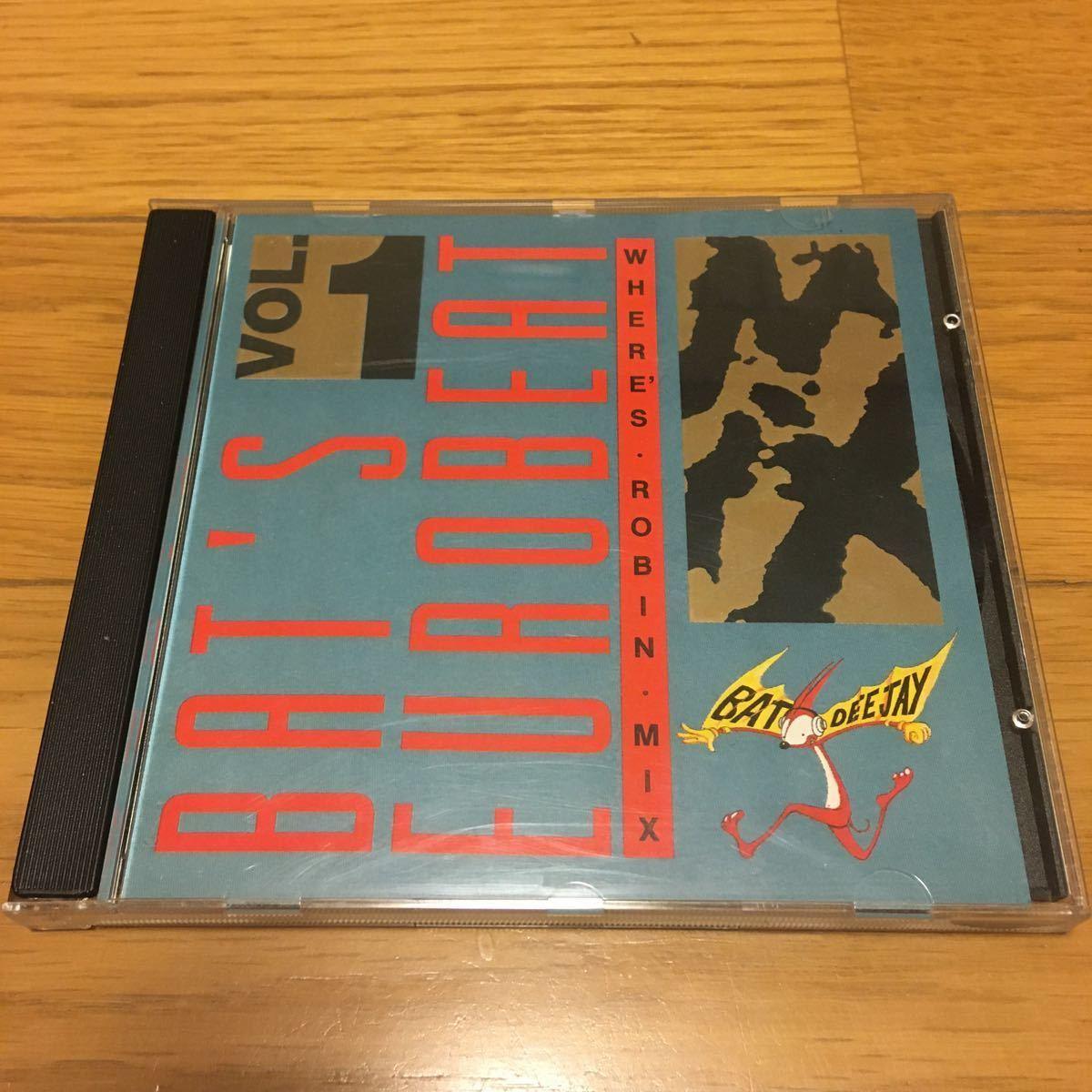ネコポス送料無料☆BAT'S Eurobeat vol.1 WHERES・ROBIN・MIX☆バッツ ユーロビート vol.1☆イタリアASIAレーベル☆希少盤_画像1