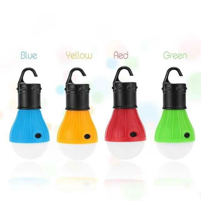 LED ランタン キャンプライト 電球型 4色セット 野外作業 災害対策 停電