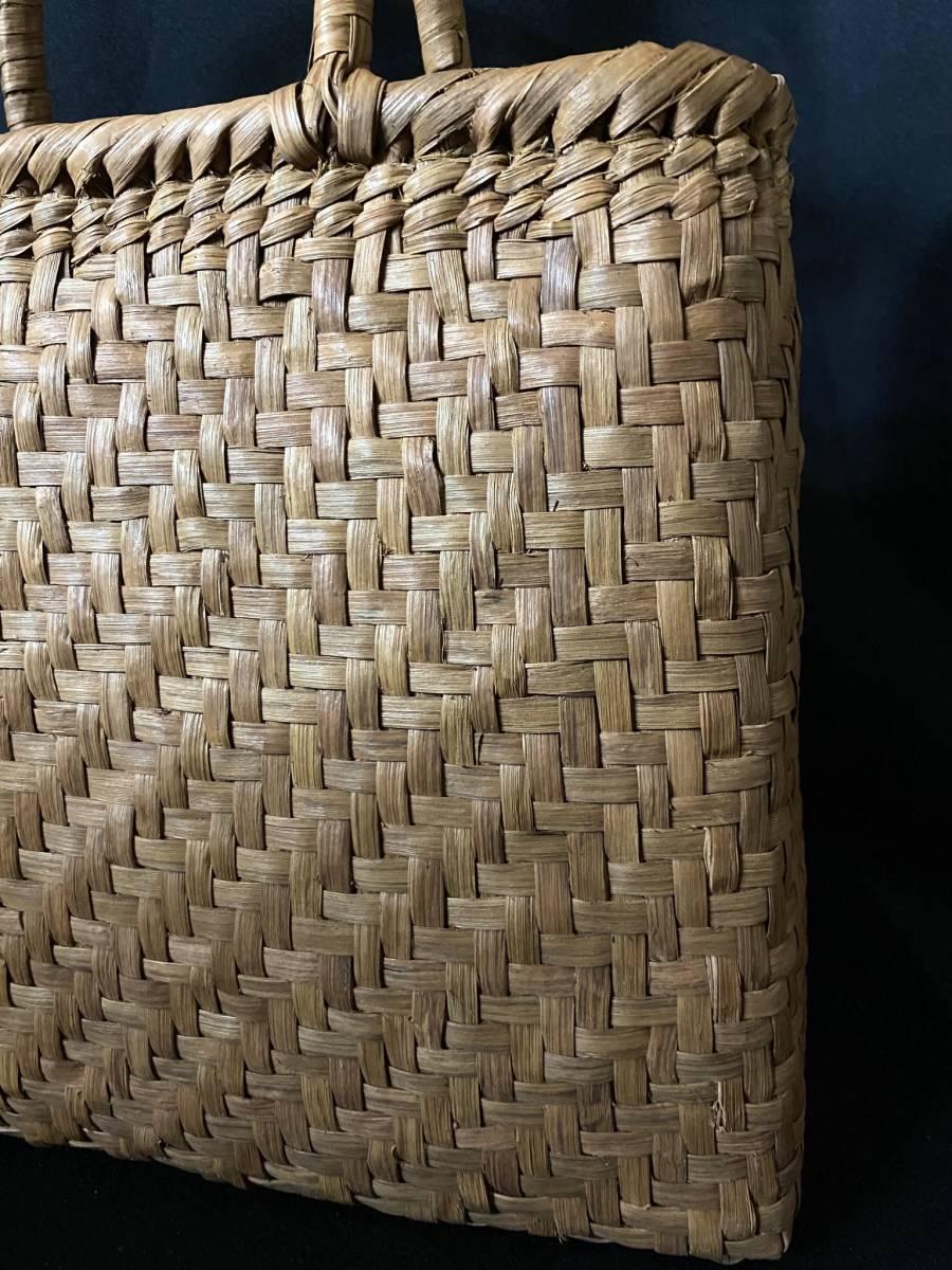 特価出品 国産蔓使用 サイズL 匠の技 職人手編み 網代編み 山葡萄籠バッグ_画像5