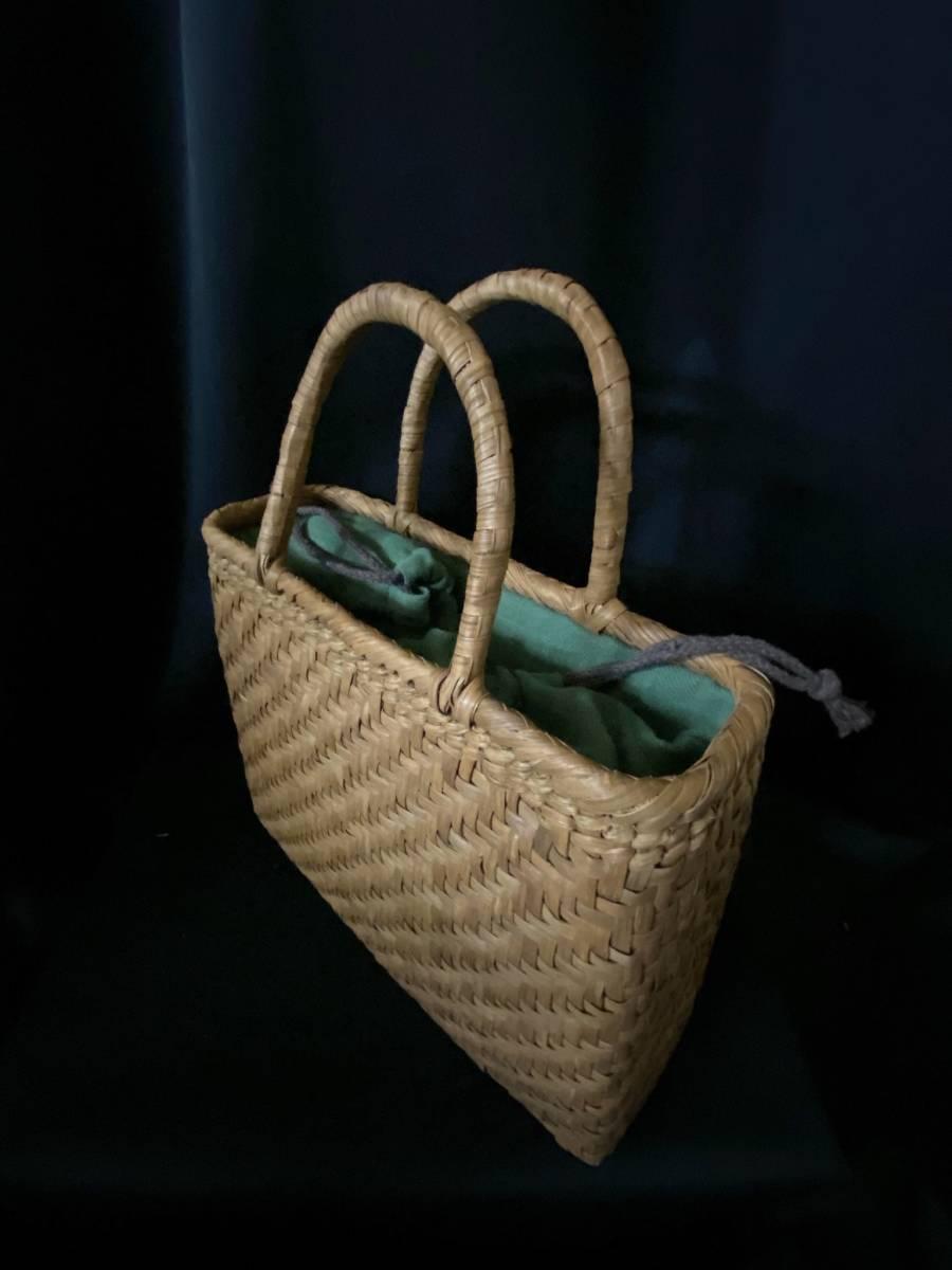 特価出品 国産蔓使用 サイズL 匠の技 職人手編み 網代編み 山葡萄籠バッグ_画像7