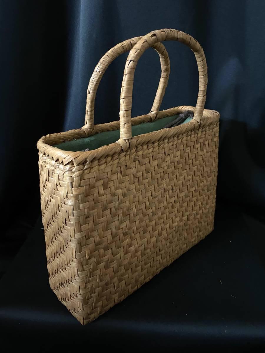 特価出品 国産蔓使用 サイズL 匠の技 職人手編み 網代編み 山葡萄籠バッグ_画像9