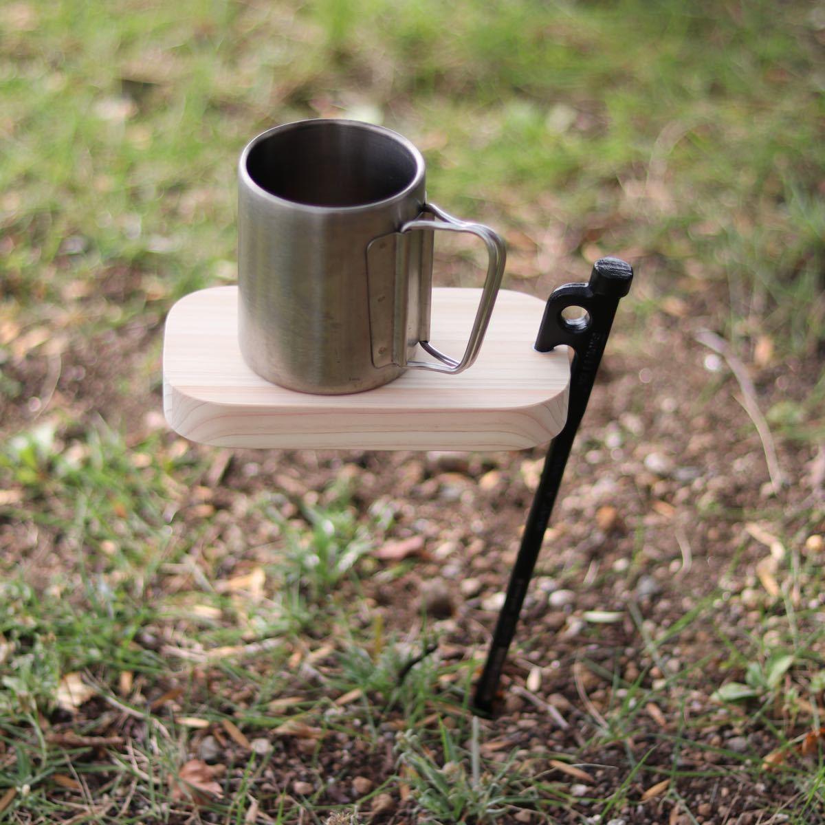 ペグテーブル トランギア TR-210 メスティン ひのき まな板 キャンプ